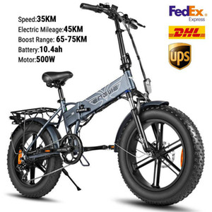 US STOCK Hotsell bici elettrica 48V 500W elettrico pieghevole bicicletta Fat Tire ebike Mountain bike Off Road High Speed ​​Scooter elettrico W41215024