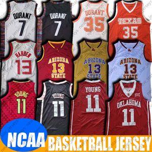 NCAA Oklahoma Koleji Trae 11 Genç Jersey James 13 Harden Formalar 8-11 Kevin 35 Durant Jersey Üniversitesi Basketbol Formalar