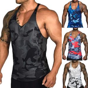 Men's Running Fitness Vest Top Camouflage Print Sleeveless Shirt Gym Sports Vest Undershirt for Men