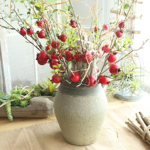 Fake Artificial Rose Fruit Pomegranate Berries Bouquet Floral Garden Home Decor polylion Bouquet Berries Fake flower DIY gift#20