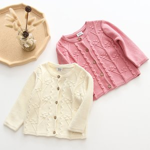 Baby Girls Knitting Jacket Autumn Long Sleeve Newborn Baby Coat 0-2Yrs Thin Knitted Outwear For Kids Clothes Tops