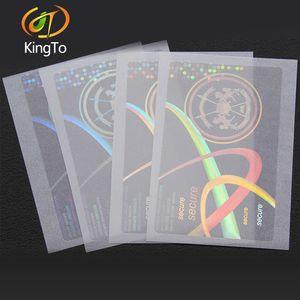 anti-falsificación / lucha contra la falsificación de hologramas transparentes láser etiqueta superposición de certificados