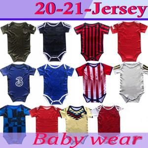 2020 2021 jerseys del fútbol del bebé de 6 a 18 meses kits para bebé camisetas de bolas escuadra Body rastreo ropa maillots del futbol de calidad superior