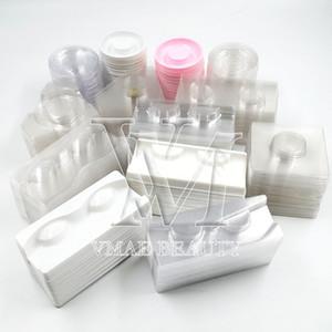 Cílios Caixas de embalagem titular Pestana falsa cílios falsos embalagem caixa vazia de armazenamento Lashes Caso Mink cílios falsos 50Pcs DHL grátis
