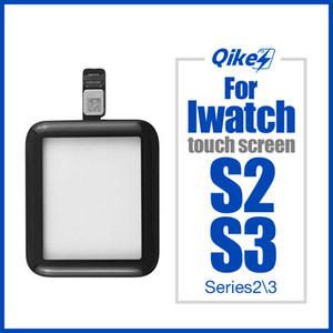 38MM 42MM شاشة تعمل باللمس محول الأرقام للحصول على أبل ووتش سلسلة 2 3 S2 S3 الغلاف لوحة زجاج الجبهة LCD الاستشعار الخارجي مع كابل فليكس