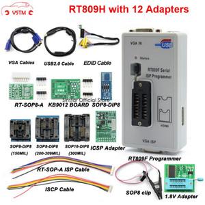 Orijinal RT809F programcısı 12 Adaptörleri + sop8 IC klip + CD + 1.8V / SOP8 Adaptör VGA LCD ISS programcı adaptörü evrensel