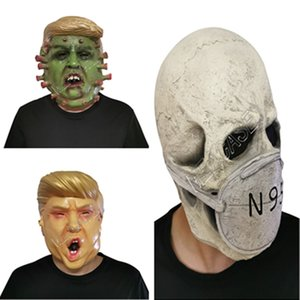 Präsident Donald Trump Vollgesichtsmaske Designer Latexmasken Cosplay Partei Halloween Schädel-Maske Kopf Scary Character Mask D81706