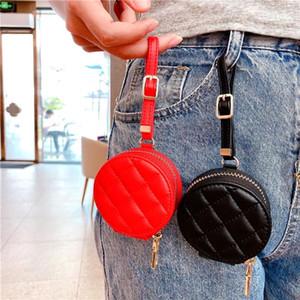 Luxe Vintage Vegan en cuir d'agneau Zipper sac de rangement pour TWS d'Apple AirPod 2 Pro Bluetooth casque Couverture Plaid Imprimer Pochette Shell