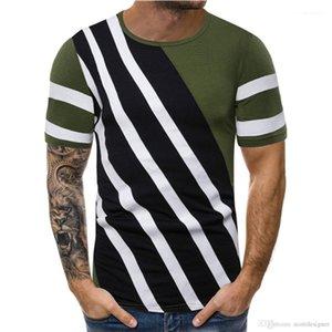 Erkek Gömlek Tasarımcı Tayfa Yaka Kısa Kollu Vintage Erkekler Rasgele Tees Tasarımcı Casual Saf Color Line Pallened Tops