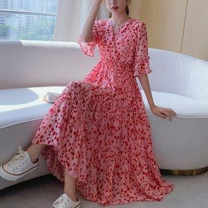 Vhykq WYesZ New emagrecimento fairy fadas Super Mori doce cintura chiffon vestido elegante Verão