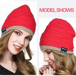 cgjxs Uomo Donna Beanie Bluetooth musica soft cappello caldo Con Auricolare stereo altoparlante Hands-Free Wireless Cap regalo di Natale