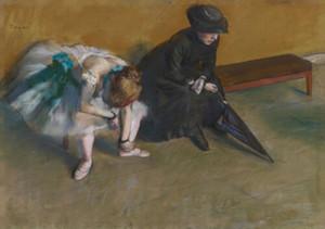 Edgar Degas artes do impressionismo espera Wall Decor pintado à mão HD impressão pintura a óleo sobre tela Wall Art Canvas Pictures 200818