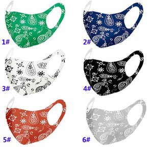 Мода Paisley Маска 3D моющийся многоразовый маска РМ2,5 Уход за кожей лица Щит ВС Цвет Золото Elbow Блестки Дизайнер Face Party Маски HH9-3210