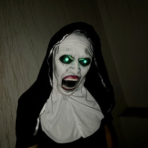 Nun Maske Kopfbedeckung Escape 2 Horror Halloween Haunted House Ghost Face Scary Room Escape Theme Ereignis Props