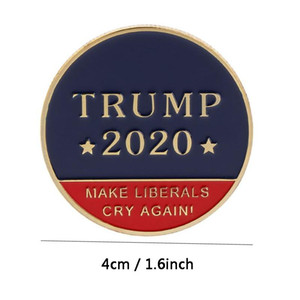 Trump 2020 Speech Commemorative Coin America President Collection Coins Craft Donald Trump Avatar Make Liberals Cry Again Coins DH2558 DBC