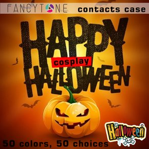 contact lens cases Halloween crazy contacts boxes with stickers 12colors Classic contact lenses boxes contacts package DHL free shipping