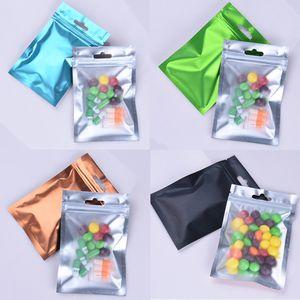 LIBRE envío lateral de colores claros bolsas de papel de aluminio Olor a prueba de bolsos de las bolsas zip lock joyería Mylar Bolsa