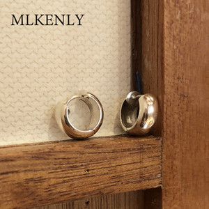 MLKENLY Geometric design industrial Style Wide Thick Big Round Circle Hoop Earrings Hip Hop Hoop Earrings T200813