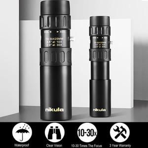 10-30x25 الأصل التكبير احادي العين جودة عالية تلسكوب جيب مجهر الصيد البصرية بريزم نطاق ث / ترايبود نيكولا