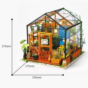 Robotime مصغرة دمية دمية DIY مع أثاث بيت الدمية، هدية الخفيفة للبالغين الأطفال كاثي زهرة البيت CX200818