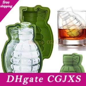 3d Granate Form Eis-Würfel-Form kreativen Silikon-Eis-Form-Küche-Stab-Werkzeug Eiscreme-Hersteller Tabletts Mold