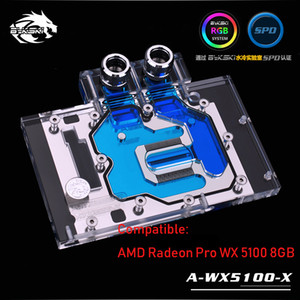 Fans & Coolings Bykski GPU Water Cooler Compatible For AMD Radeon Pro WX 5100 8GB, Computer Case Watercooling Block, A-WX5100-X Cooling