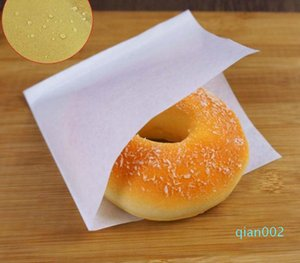 2500pcs 12x12cm Sandwich Donut Bread Bag Biscuits Doughnut Solid Color Paper Bags Oilproof Bread Craft Bakery Food Packing Kraft SN3652