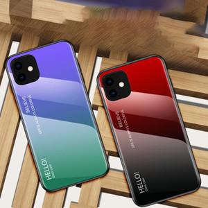 Dégradé en verre trempé Case Pour iPhone11 XS XR max Pour iPhoneX 7 8 Plus Mobile Phone Case Cover chaud
