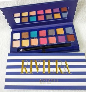 New Arrivals Makeup Riviera 14 color eyeshadow palette with brush beauty shimmer matte eye shadow hills palette free shipping