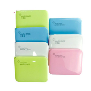 Plastic Empty Mascherine Container Smoke Protective Face Mask Storage Boxes Rectangle Folded Flat Organizer Cases Colorful 8 5cb C2