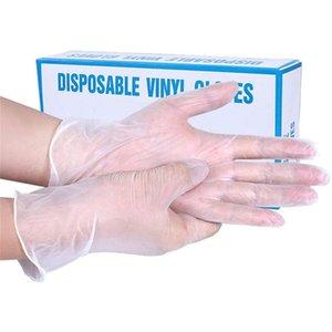 Ev ve Mutfak için 100pcs Tek Kullanımlık Şeffaf Vinil Eldiven Lateks Ücretsiz Toz Ücretsiz Non-Steril Tek kullanımlık eldiven Gıda Güvenli Muayene Eldiveni