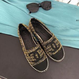 design de luxe 817 Top Qualité Luxe Motif Mode Femmes Chaussures Out Ventilation Canvas Femme Une pédale Flat Temps libre Slacker Com