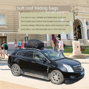 سقف في الهواء الطلق حقيبة الأمتعة قابلة للطي رف سيارة SUV المعدات صندوق تخزين سيارة حقيبة التخزين حقيبة الأمتعة حقيبة