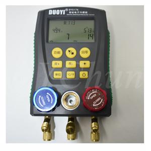 Temperatura Tester DY517A DY517 Indicador de presión de vacío Refrigeración digital de presión probador de la temperatura del colector Tester Meter
