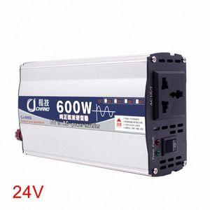 600W 1000W Pure Sine Wave 12V 24V To 220V Portable Power Inverter LED Display Practical Car Transformer Home Use Supply Adapter UKDq#