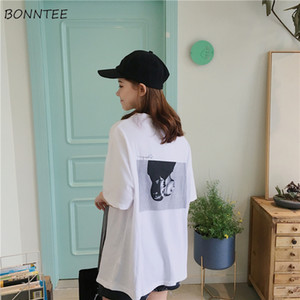 T-shirts Women Half Sleeve Trendy Student Loose Printed Korean Womens Ulzzang All-match O-Neck Daily T-shirt Chic Ladies Clothes