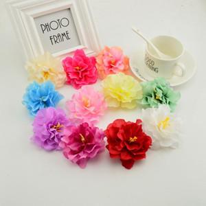 200pcs 7cm cheap silk peony heads artificial flower wedding & home decoration DIY make door wreath & flower wall hat flowers