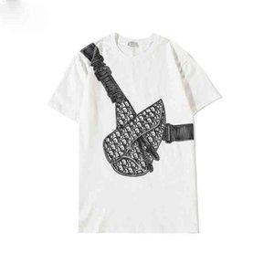 2020 NEW Polohemd der Männer Gezeiten Marke Stickerei lose Trend Reißverschluss kurze Ärmel Revers mercerisierter Baumwolle lässige T-Shirt mit der halben Hülse