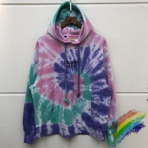 Schwerer Stoff Tie dye Hoodie Männer Frauen 1 beste Qualität Art und Weise beiläufiger Kapuzenpulli