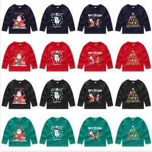 Navidad Ropa Sudaderas muchachas de los bebés con capucha de manga larga suéter de cuello redondo con capucha Tops Ropa para niños otoño T Shirts E92403