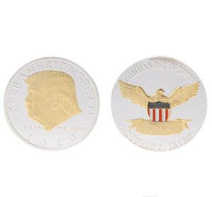 American Gold Coin President America Keep Coins Supplies Great 2020 Trump Donald Badge Election Silver Commemorative sweet07 VTYJC
