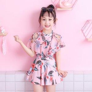 P5I3A etek kızın ebeveyn-çocuk Çocuk Elbise tek parça kızın bebek sevimli mayo Princess ins mayo