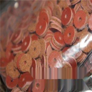 mHmG6 pelle bovina Buddh perline pad pad diametro pelle padspacer 6 8 10 12 14 millimetri guarnizione in similpelle Buddha perline 500 pezzi di un pacchetto