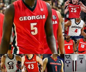 Georgia Bulldogs Баскетбол 10 Toumani Camara 11 Jaxon Etter 14 Tye Fagan 15 Sahvir Wheeler 24 Родни Говард Уга сшитый Джерси