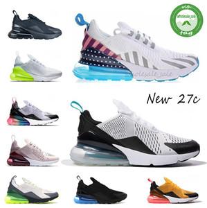 2020 Nuevos 27C de los zapatos corrientes de los hombres de las mujeres de alta calidad de las zapatillas de deporte barato Negro azul rojo blanco Grenn Chaussure Homme deportes tamaño de los zapatos 36-45