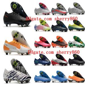2020 nouvelle arrivée Hommes crampons bas de football Mercurial Superfly 13 Elite SG-PRO chaussures de football AC Neymar CR7 chaussures de football en plein air chaud