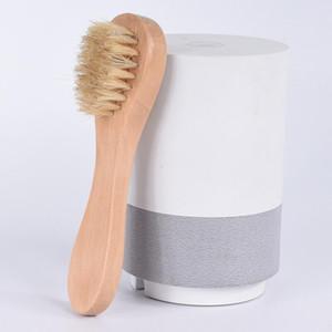Escova de limpeza Face para a esfoliação Facial Natural Cerdas esfoliantes cara Escovas para Dry Brushing com HWF899 punho de madeira