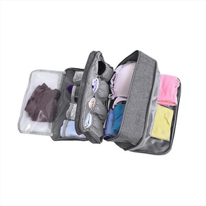 Women Travel Underwear Bags Portable Bra Waterproof Cosmetics Drawer Organizer Clothes Shoes Makeup Toiletry Storage Pouch Gear