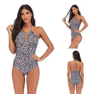 Bikini Moda de banho Roupa Zebra Striped Womens One Piece Swimwear Sexy Polka Dot Ladies