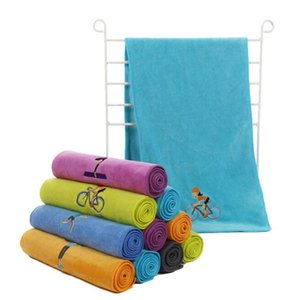 Embroidery yoga wiping towel absorb sweat quick-dry fitness gym cold sports towels outdoor cycling running basketball Microfiber towel